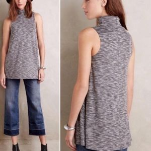 Anthropologie Postmark Cowlneck Sleeveless Top
